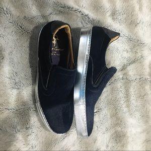 Robert Graham Shoes - NWT Robert Graham Blue Rolo Calf Hair Slip-On